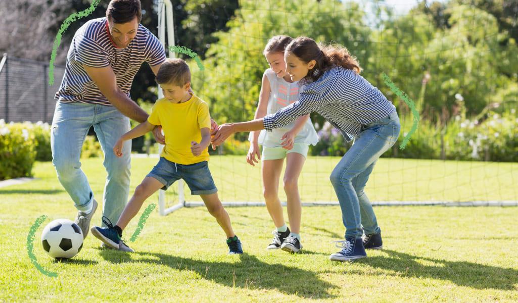 familia unida por el ejercicio